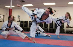 Adults Sparring in Karate