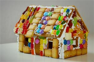 Gingerbread House with Jelly Beans and Gummies