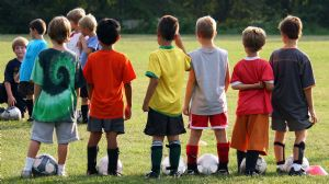 Kids Learning Soccer